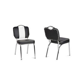 american diner stuhl schwarz 50er retro style 2er set 189. Black Bedroom Furniture Sets. Home Design Ideas