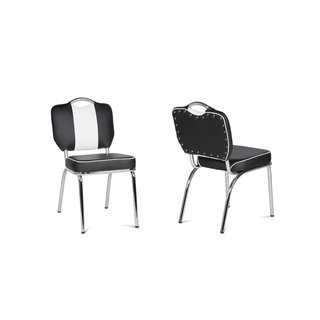 American Diner Stuhl schwarz 50er retro Style 2er Set