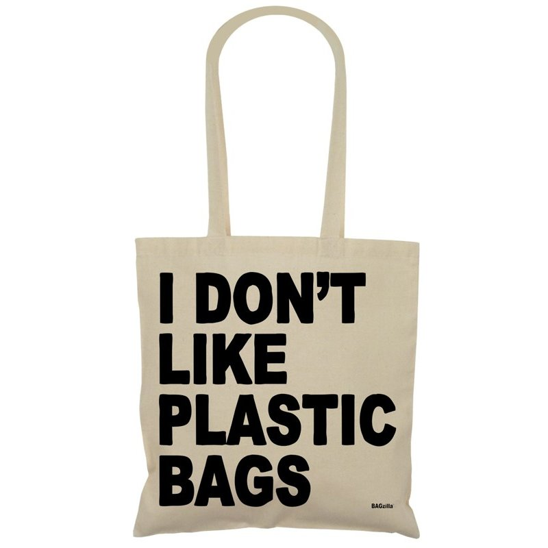bagzilla tasche i dont like plastic bags 9 90. Black Bedroom Furniture Sets. Home Design Ideas