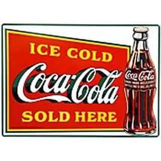 Metal Sign Ice Cold Coca-Cola